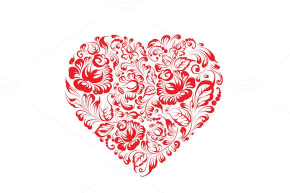 Heart Of Gzhel Flowers