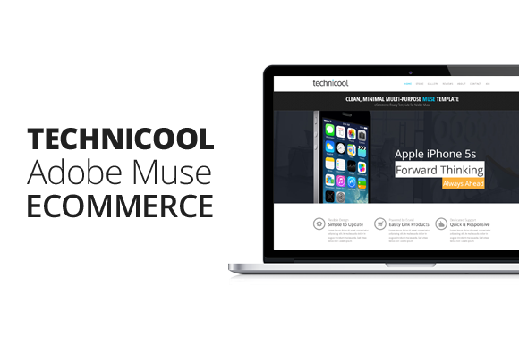 Technicool Adobe Muse ECommerce