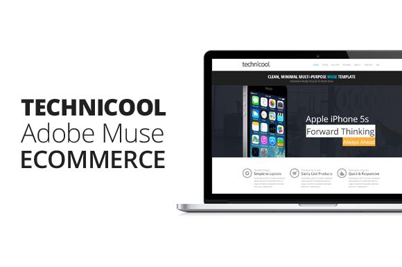 Technicool Adobe Muse ECommerce