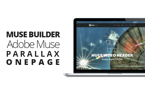 Muse Builder Parallax OnePage Muse
