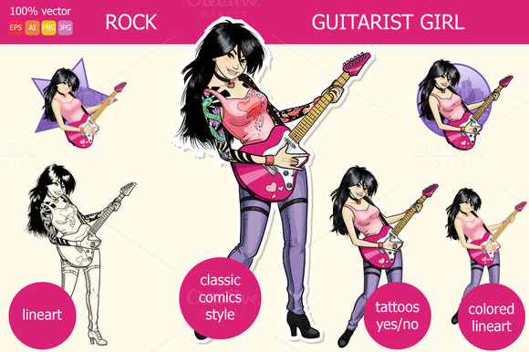 Rock Guitarist Asian Girl