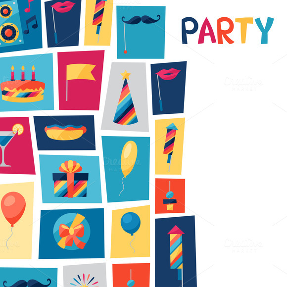 Party Card And Pattern