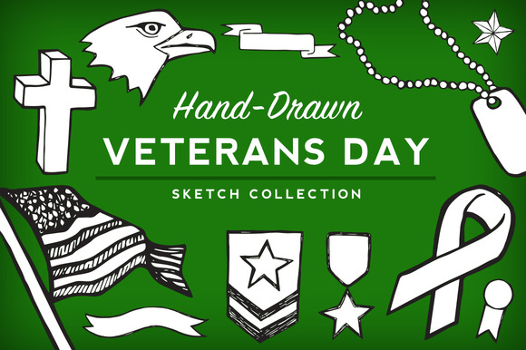 Veterans Day Sketch Collection