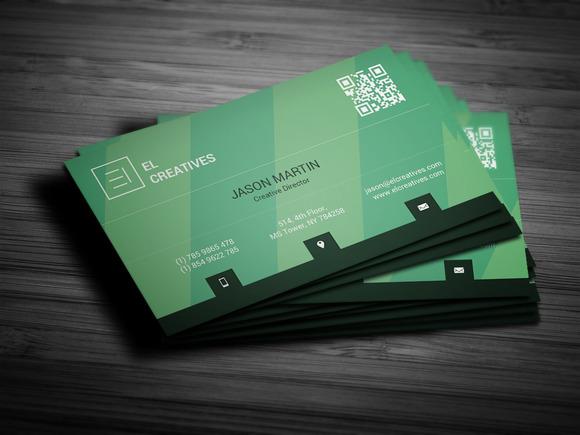 Green Creative Business Card