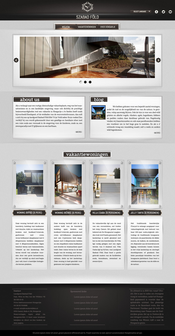 Gallery Website PSD Template