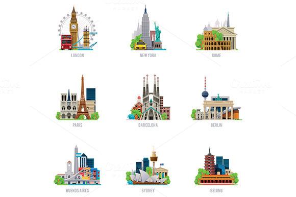 Wolrd Landmarks Icons