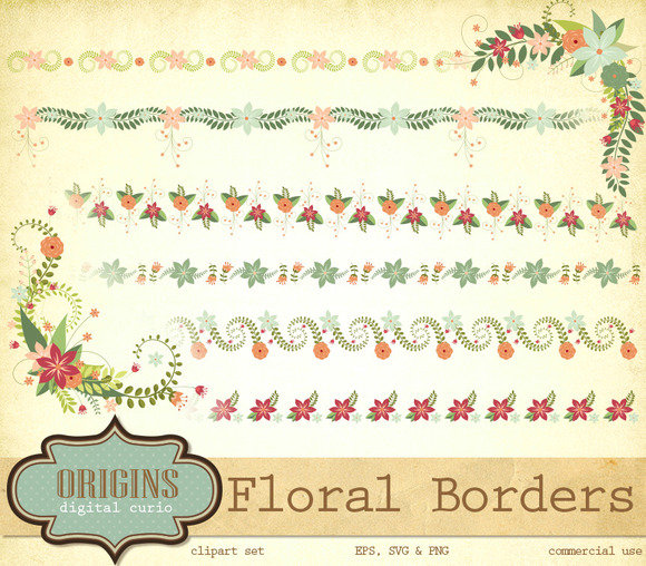 Floral Corners And Borders Clipart