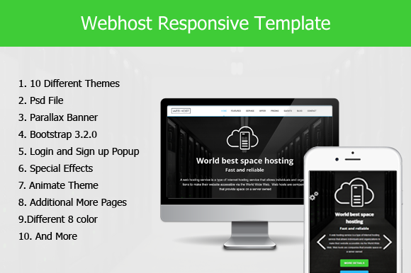 Web Host Responsive HTML5 Template