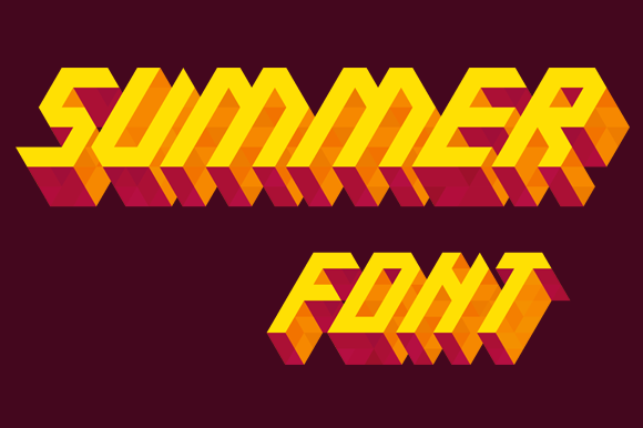 Isometric Alphabet Summer