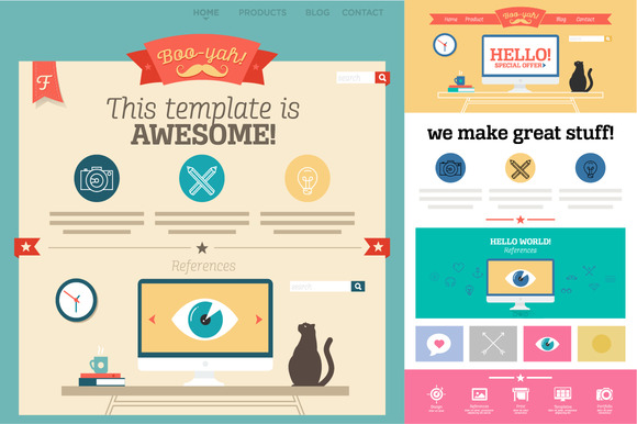 Flat Illustrated Template