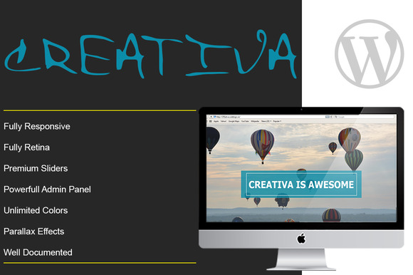 CREATIVA One Page Parallax Theme