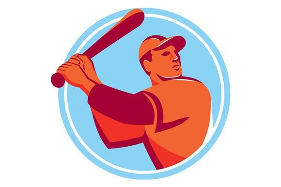 Baseball Batter Batting Bat Circle R