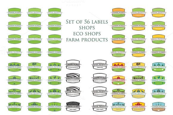 Set Of Illustration Farm Labels
