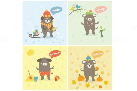 Dog And Seasons