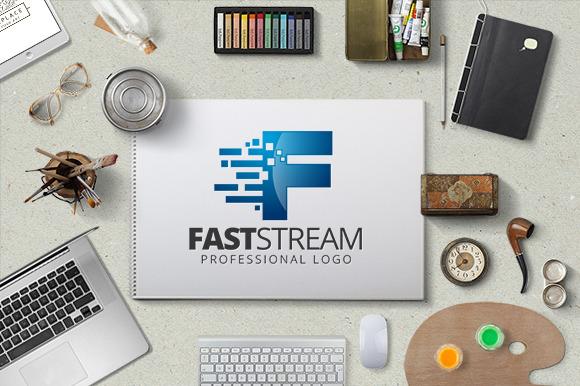 Fast Stream Logo Template