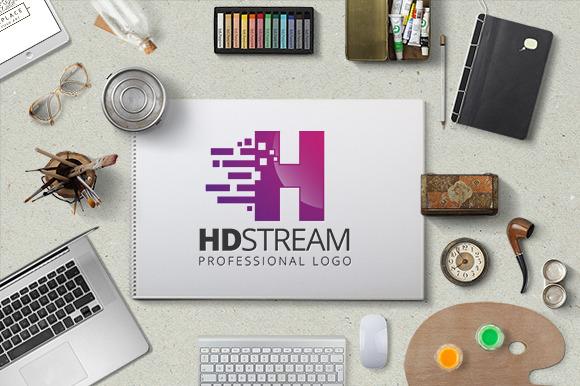 HD Stream Logo Template