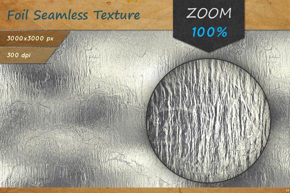 Aluminum Foil Seamless HD Texture