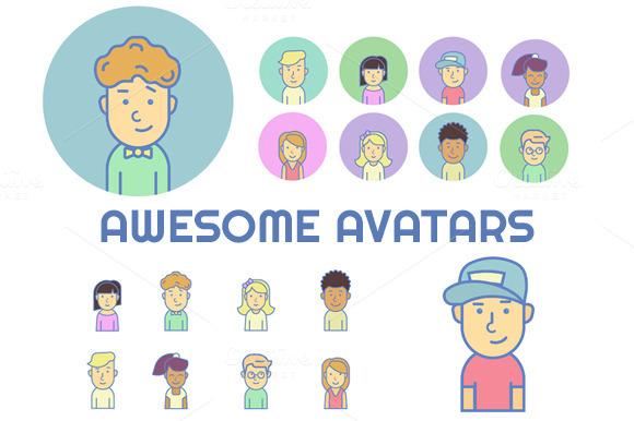 Vector Characters Set