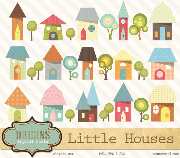 Little Houses Clipart
