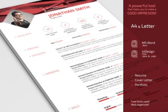 Simple Resume CV Set
