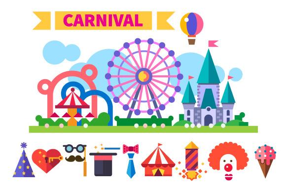 Carnival In Amusement Park