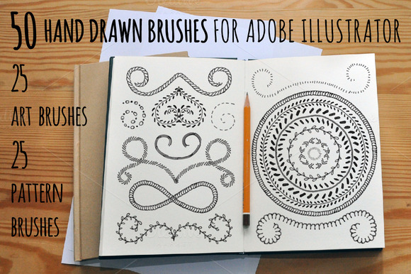 50 Adobe Illustrator Vector Brushes