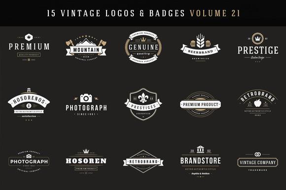 20% Off 15 Retro Vintage Logotypes