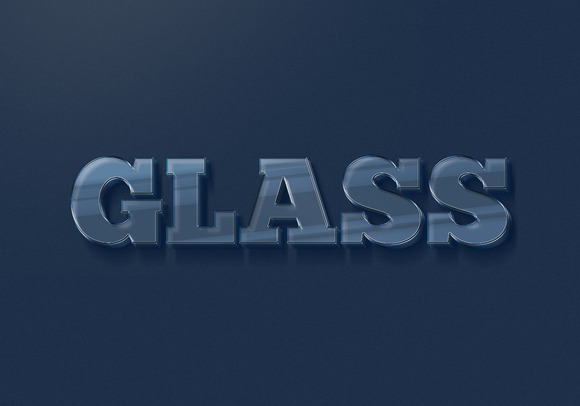 Glass Type 3D TEXT EFFECTS