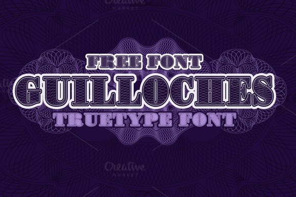 Guilloches TrueType Font