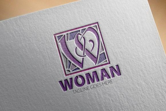 Woman W Letter Logo