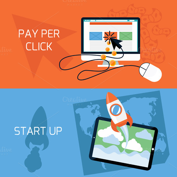 Concept Of Start Up Pay Per Click