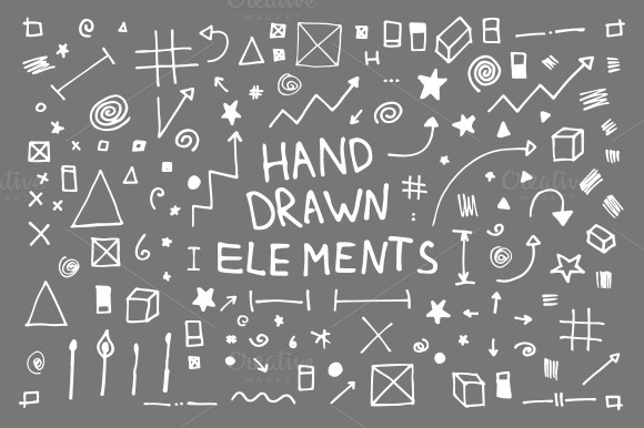 133 Hand Drawn Vector Elements