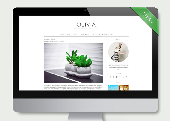 Olivia Simple Wordpress Theme
