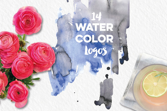 14 Handmade Watercolor Logos