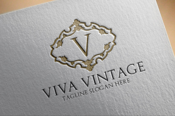 Viva Vintage V Letter Logo