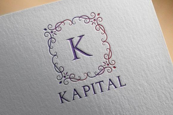Kapital K Letter Vintage Logo