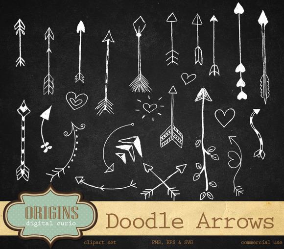 Doodle Arrows Clip Art Vectors