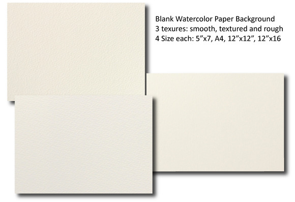 Blank Watercolor Paper Background