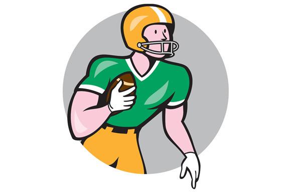 American Football Player Rusher Circ