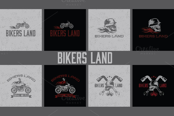 Illustrations On Biker Theme