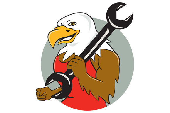 American Bald Eagle Mechanic Wrench