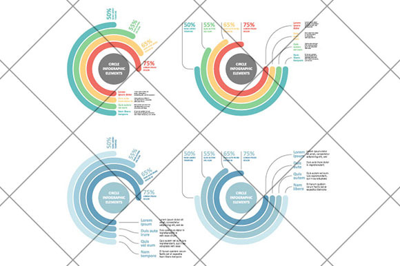 Circle Infographics Elements