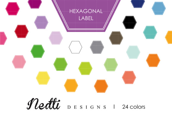 Hexagonal Label Clip Art