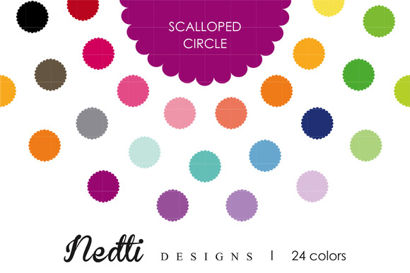 Scalloped Circle Tag Label