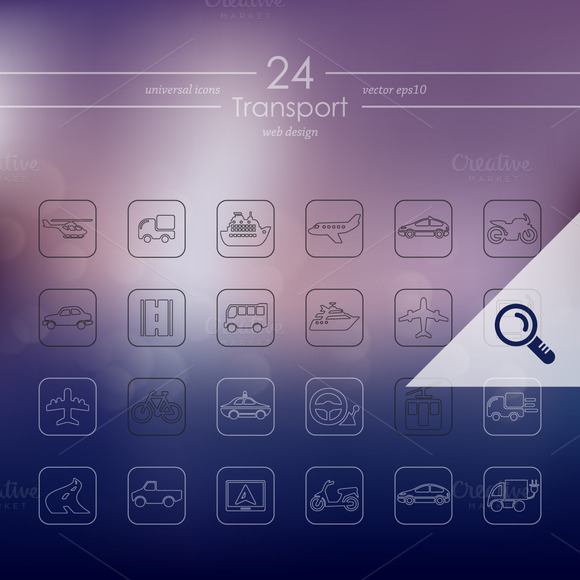 24 TRANSPORT Icons