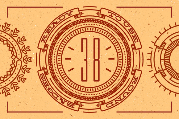 38 Line Badges