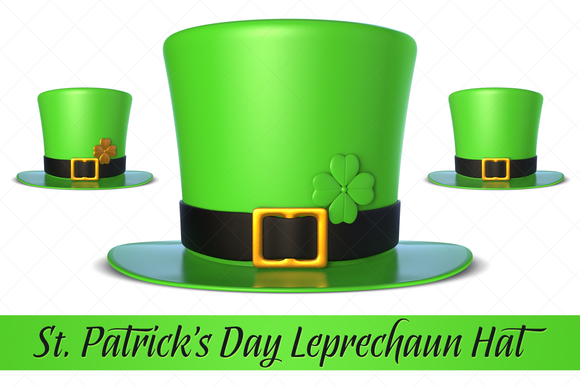 St Patrick S Day Leprechaun Hat 3D