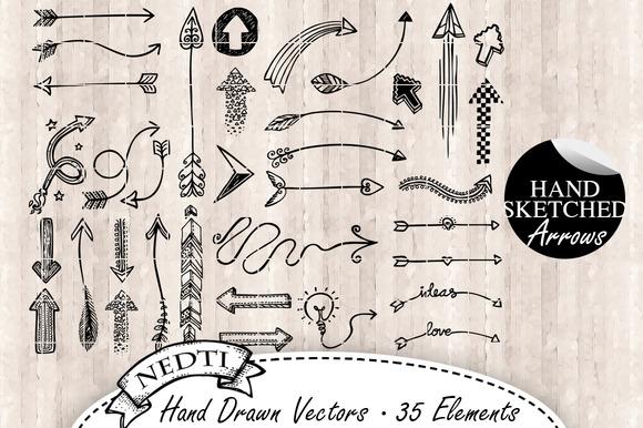 Arrow Doodle Vector 35 Elements