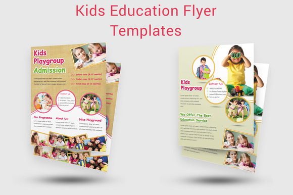 Kids Education Flyer Templates