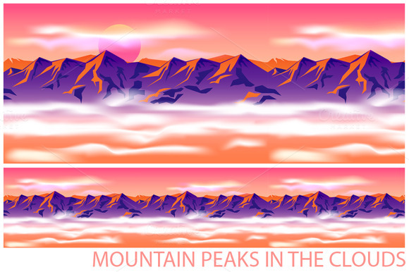 Mountain Peaks In The Clouds